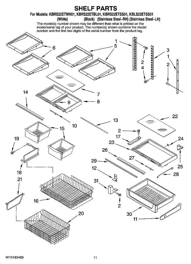 KBRS22ETBL01 | Appliance Parts Company : Appliance Model Lookup