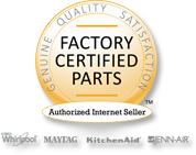 Whirlpool Internet Logo - Factory Certified Parts - Authorized Internet Seller